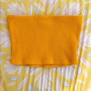 Mustard Yellow Tube Top